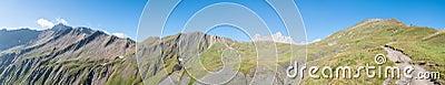Alps Frankrike (bak den storslagna kolonn-vesslan) - panorama