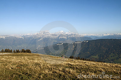 Alps and Mont Blanc from Semnoz