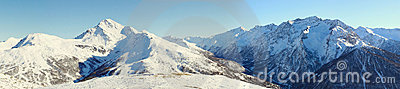 Alps panorama in Sestriere