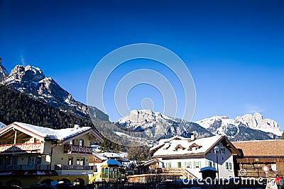 Alps ski resort village