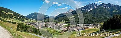 Alps small village panorama