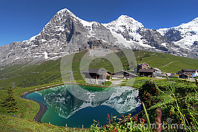 Alps szwajcarski Krajobraz