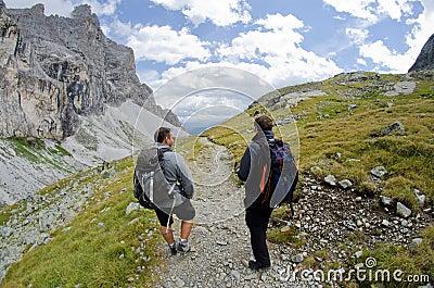 Alps trekking