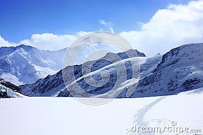Alps under blue sky