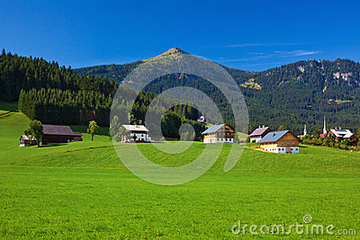 Alps Village Royalty Free Stock Image - Image: 26391226