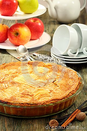 Alsatian apple pie.