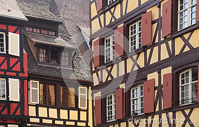 Alsatian architectural abstract