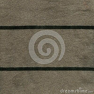 Textura de la tela de algodón - gris/verde con las rayas verde oscuro