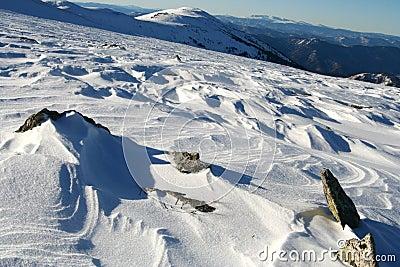 Altai Mountain with snow