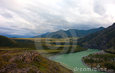 Altai mountains. Beautiful highland landscape