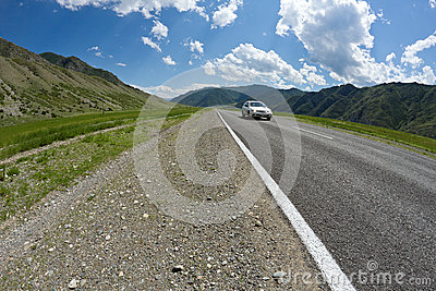 Altai mountains road