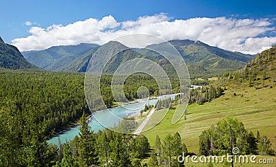 Altai river Katun