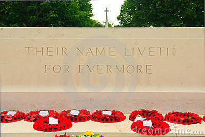 Altar, British war cemetery in Bayeux, Normandy