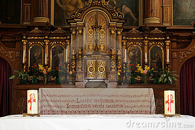 Altar of the Capuchin Church of Bolzano, Italy