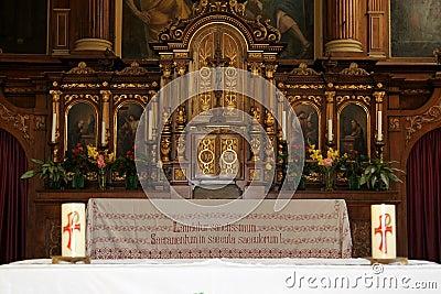 Altar of the Capuchin Church of Bolzano, Italy