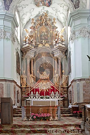 Altar is in the cathedral of saint Peter