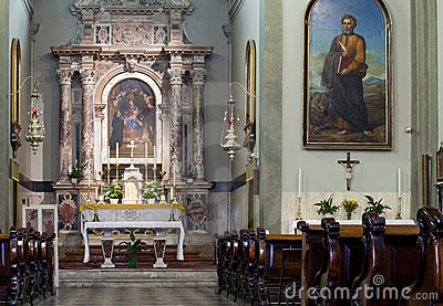 Altar of a church