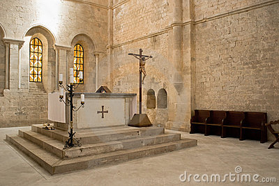 Altar in church