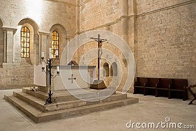 Altar in church