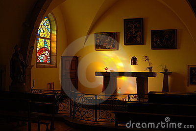 Altar in a church