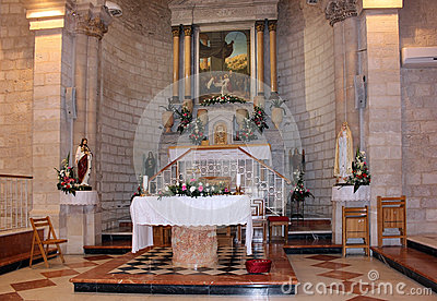 Altar in the church of the first miracle