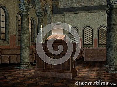 Altar in a medieval church