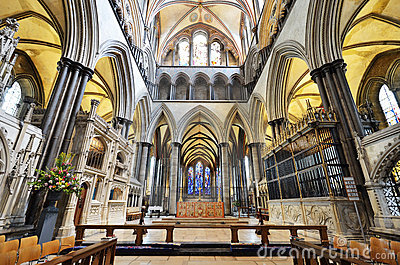 Altar of Salisbury cathedral