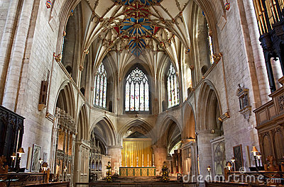 The altar at tewkesbury abbey