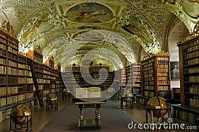 Alte hochschulbibliothek in prag tschechische republik