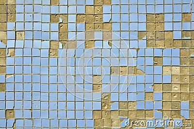 alte blaue fliesen auf der wand stockbilder bild 32112524. Black Bedroom Furniture Sets. Home Design Ideas