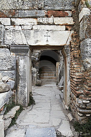 Alte christliche Tür