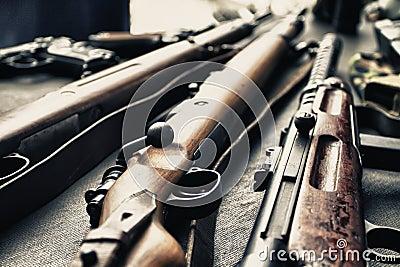 Alte Gewehren