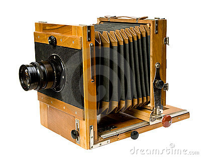Alte hölzerne Kamera