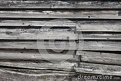 Alte hölzerne Planken
