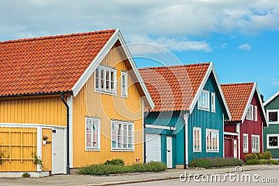 alte holzh user in karlskrona schweden stockfoto bild 62391760. Black Bedroom Furniture Sets. Home Design Ideas
