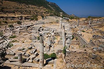 Alte römische Spalten