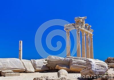 Alte Ruinen in der Seite, die Türkei