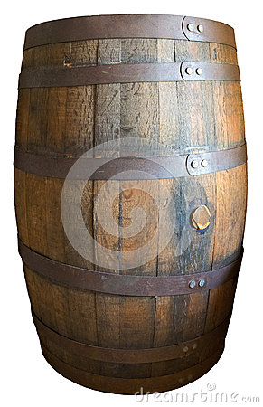 alte weinlese h lzernes whisky fass lokalisiert stockbild. Black Bedroom Furniture Sets. Home Design Ideas