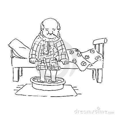 alter mann im bett lizenzfreies stockbild bild 22880566. Black Bedroom Furniture Sets. Home Design Ideas