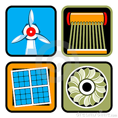Alternative Energy Sources Icon Set