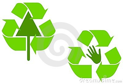 Alternative Green Recycle Symbols