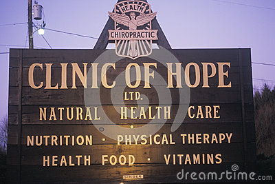 Alternative healthcare clinic sign Editorial Image