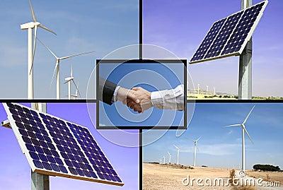 Alternative solar and wind energy