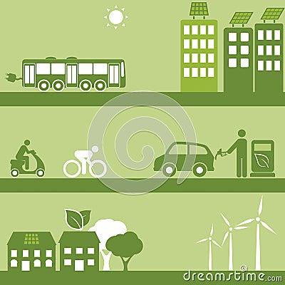 Alternativer Brennstoff und Solargebäude