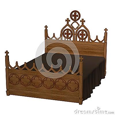 altes bett stock abbildung bild 46623449. Black Bedroom Furniture Sets. Home Design Ideas