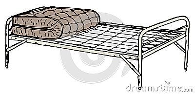 lizenzfreie stockbilder old cot bed bild 31486979. Black Bedroom Furniture Sets. Home Design Ideas