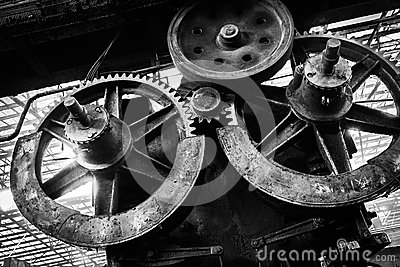 Altes, metallurgisches festes, auf eine Demolierung wartend