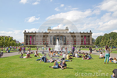 Altes Museum (Old Museum) on Museum Island,Berlin Editorial Stock Image