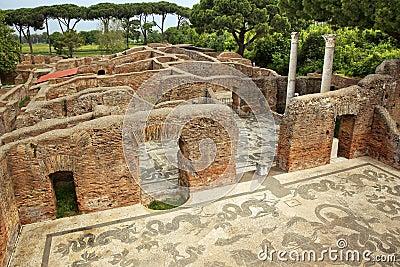 Altes r misches bad mosaik ostia antica rom for Mr arredamenti ostia antica