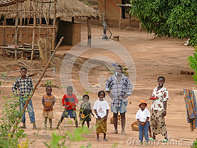 ALTO MOLOCUE, MOZAMBIQUE - 7 DECEMBER 2008: Most African family, Editorial Image